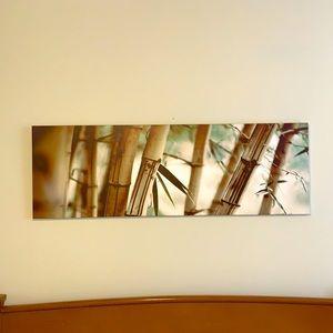 Large bamboo wall print